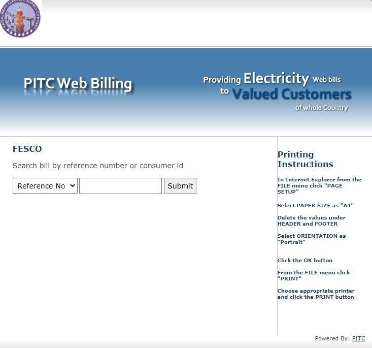 FESCO Online Duplicate Bill